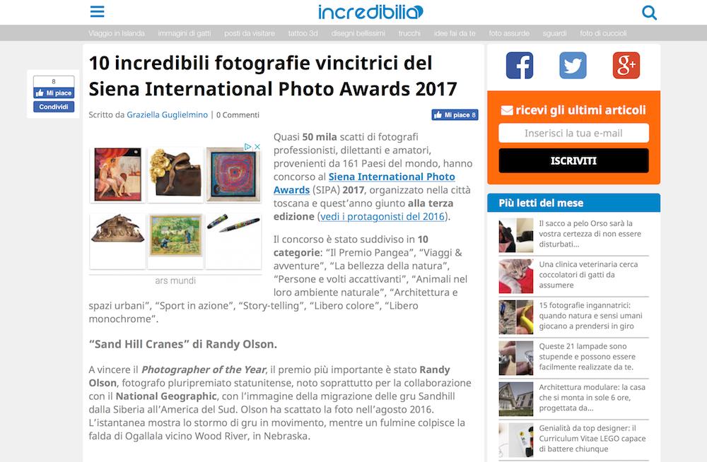 incredibilia Italy SIPA 2017