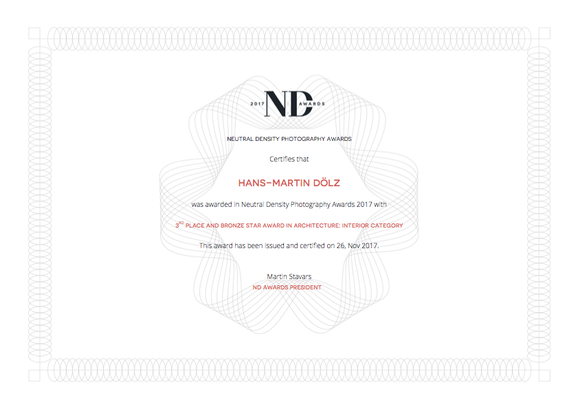 nd awards 2017_certificate_Hans-Martin_Doelz-architecture-interior category