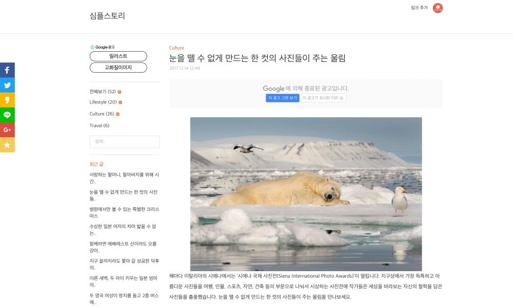 simplestory Korea SIPA 2017