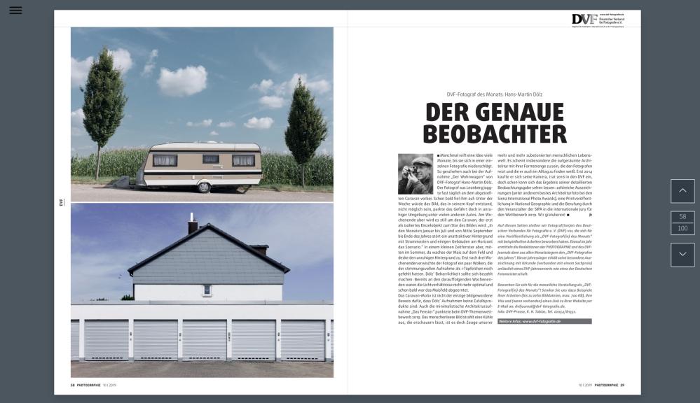 DVF Fotograf des Monats Hans Martin Dölz PHOTOGRAPHIE 10 | 2019