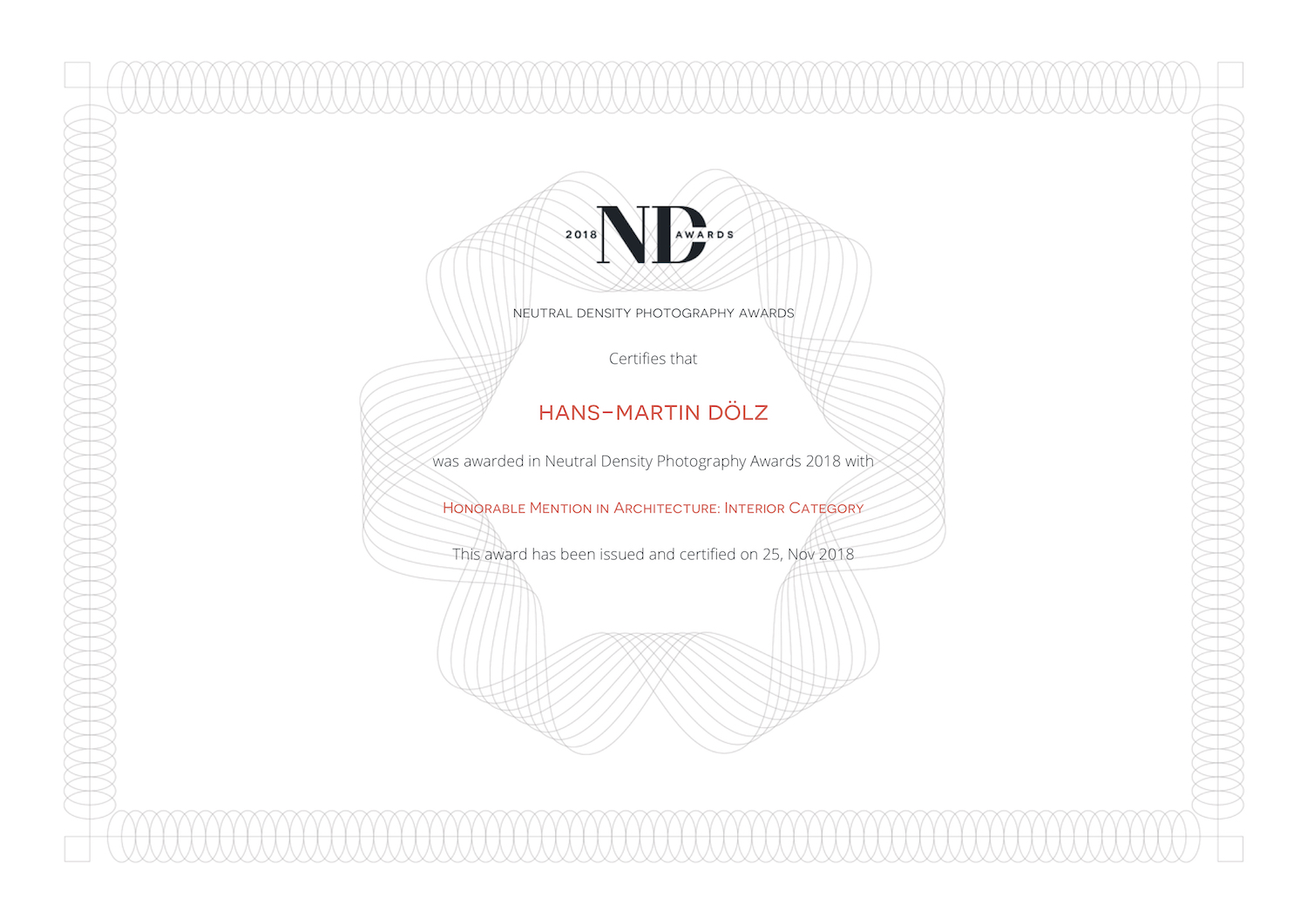 nd awards_certificate_Hans-Martin Doelz-2018